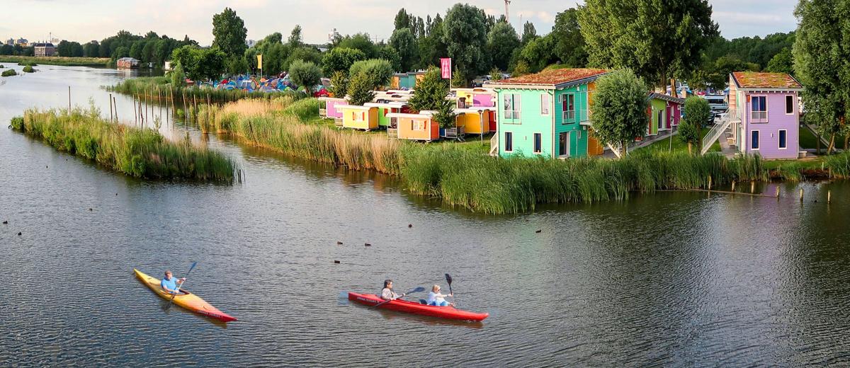 SUP Route Zeeburg, Amsterdam (10 km) - Happy Supper