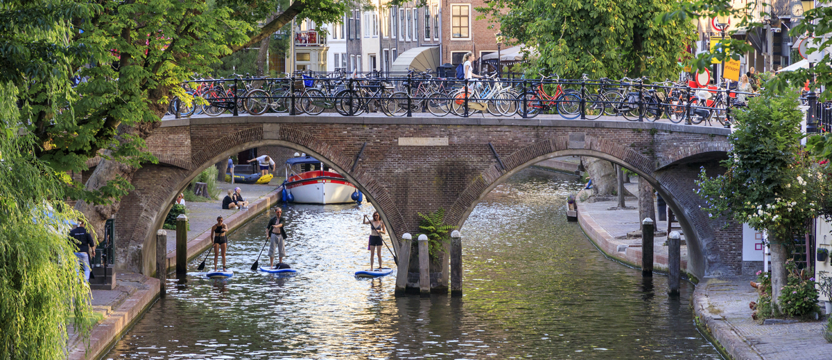 SUP Route Oudegracht, Utrecht (4.4 km) - Happy Supper