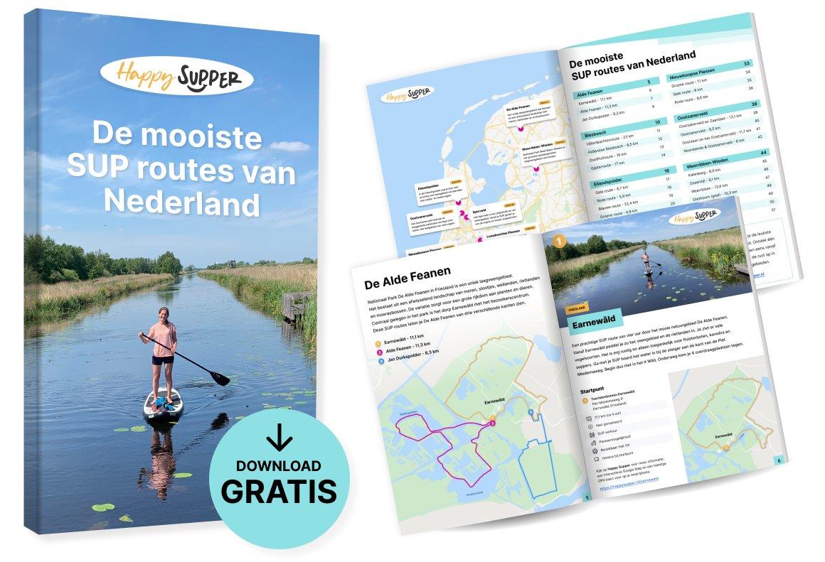 Gratis e-book: De mooiste SUP routes van Nederland
